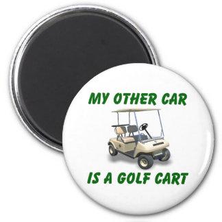 Mon autre voiture magnet rond 8 cm