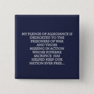 Mon bouton de jour de vétérans d'engagement badge carré 5 cm