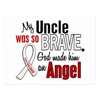 Mon cancer de poumon d'oncle Is An Angel Carte Postale