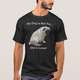 Mon chien n'est pas gros carlin t-shirt