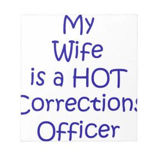 Mon épouse est un dirigeant de corrections chaud blocs notes