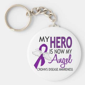 Mon héros est ma maladie de Crohn d'ange Porte-clé Rond