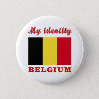 Mon identité Belgique Badge Rond 5 Cm