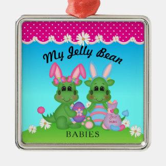 Mon ornement de lapin de Pâques de dragon de bébés