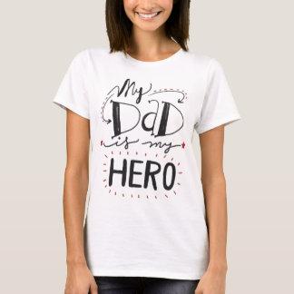 Mon PAPA est mon T-shirt de HÉROS