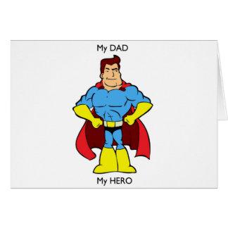 Mon papa mon super héros de héros carte de vœux