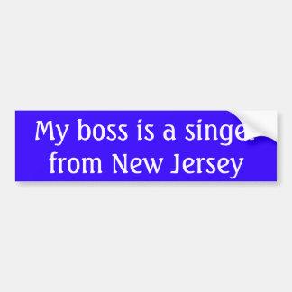 Mon patron est un chanteur de New Jersey Autocollant De Voiture