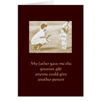 Mon père carte de vœux
