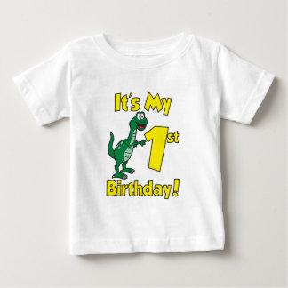 Mon premier dinosaure d'anniversaire t-shirt pour bébé