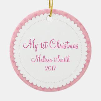 Mon premier ornement de bébé d'arbre de Noël de