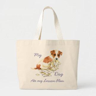 Mon Russell Terrier a mangé mon plan de cours Grand Tote Bag