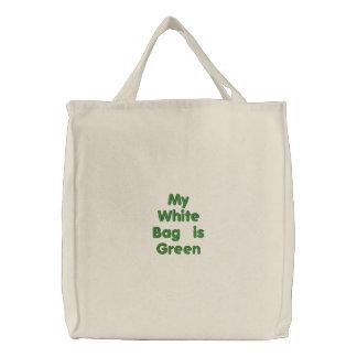 Mon sac blanc est vert