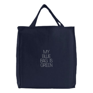 Mon sac bleu est vert -