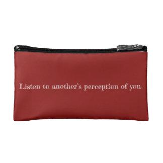 Mon sac de cosmétique de citation de perception