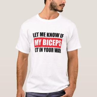 Mon T-shirt drôle de forme physique de biceps