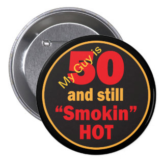 Mon type est 50 et toujours anniversaire chaud de badge rond 7,6 cm
