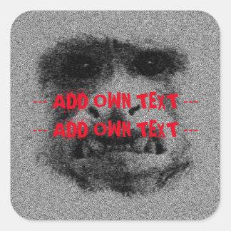 Mon visage d'inquiétude - charge statique sticker carré