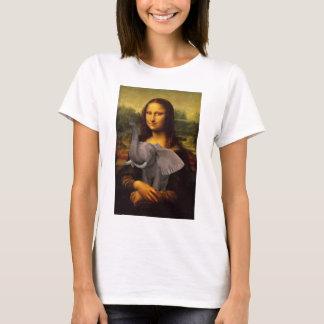 Mona Lisa avec l'éléphant T-shirt