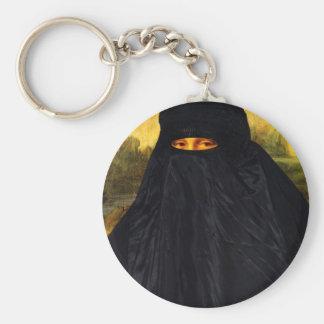 Mona Lisa cachée derrière Burqa Porte-clés