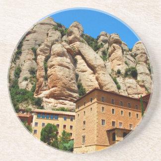 Monastère de Montserrat, Catalogne, Espagne Dessous De Verre En Grès