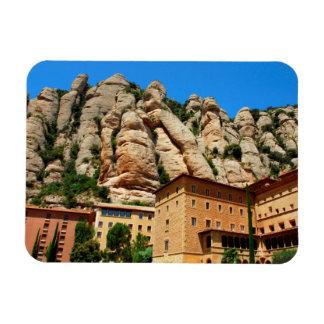 Monastère de Montserrat, Catalogne, Espagne Magnet Rectangulaire Avec Photo
