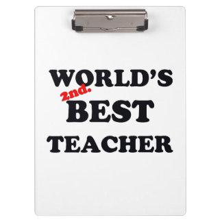 Monde 2ème. Le meilleur professeur Porte-bloc