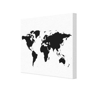 monde-carte blanche noire toiles