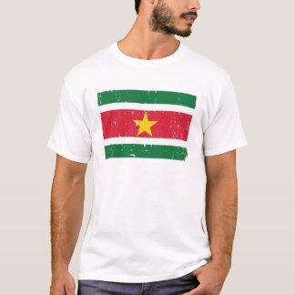 Monde de T-shirts de drapeau du Surinam