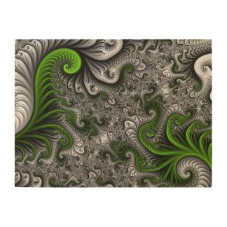 Monde imaginaire art abstrait verte et de gris de