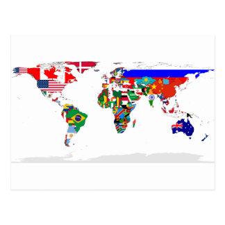 monde pendant carte postale