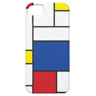 Mondrian Minimalist DE Stijl Art iPhone 5 CaseMate Barely There iPhone 5 Hoesje