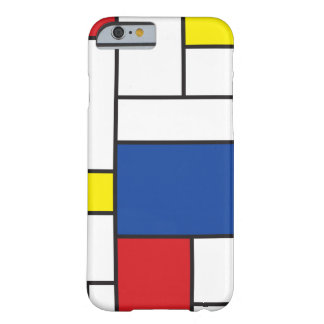 Mondrian Minimalist DE Stijl Art iPhone 6 hoesje