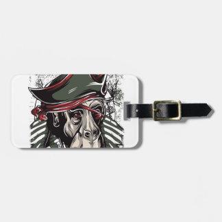 monkey la conception mignonne de pirate étiquette à bagage