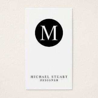 Monogram | de Eenvoudige Moderne Minimalistische Visitekaartjes