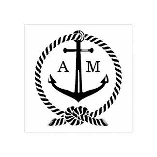 Monogram | van het anker Huwelijk Rubberstempel