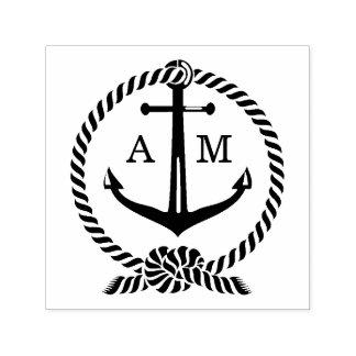 Monogram | van het anker Huwelijk Zelfinktende Stempel