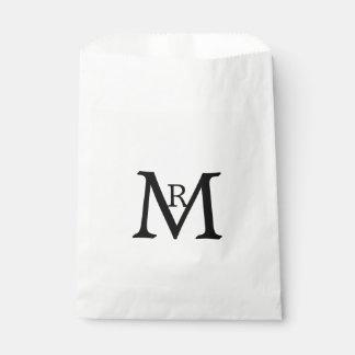 Monogram Zwart AR Bedankzakje