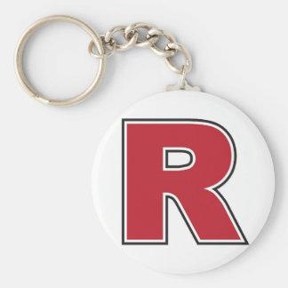"""Monogramme 2,25"""" de la lettre R porte - clé de Porte-clé Rond"""