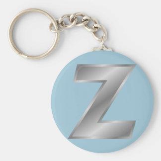 """Monogramme 2,25"""" de la lettre Z porte - clé de Porte-clé Rond"""
