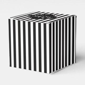 Monogramme blanc noir de Quatrefoil 3 de noir de Ballotins De Dragées