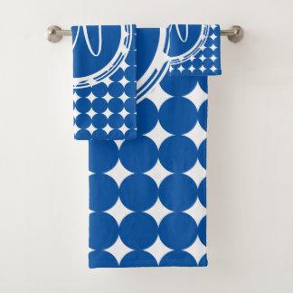 Monogramme bleu de point de polka
