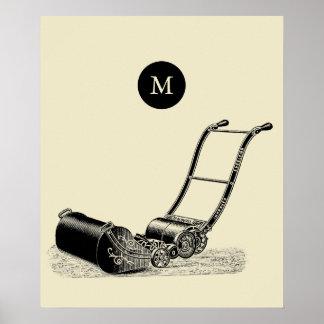 Monogramme britannique P de tondeuse à gazon