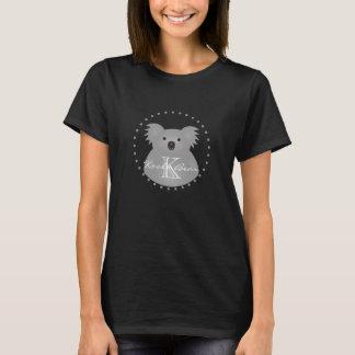 Monogramme câlin mignon d'ours de koala de bébé de t-shirt