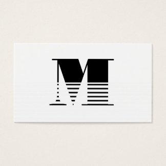 Monogramme Cartes De Visite