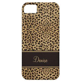 monogramme chic de l'empreinte de léopard iPhone5 Coques iPhone 5