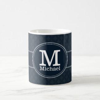 Monogramme classique profond de coutume de motif mug