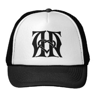 Monogramme d'aa casquettes