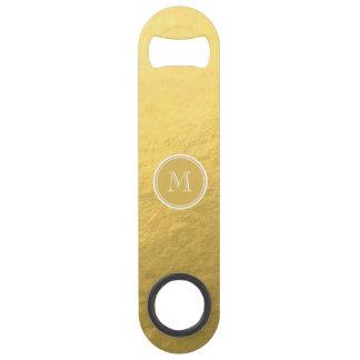 Monogramme d'arrière - plan de feuille d'or de