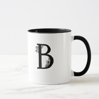 Monogramme de B dans la tasse de jardin