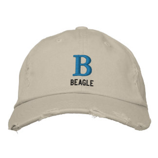 Monogramme de beagle casquette brodée